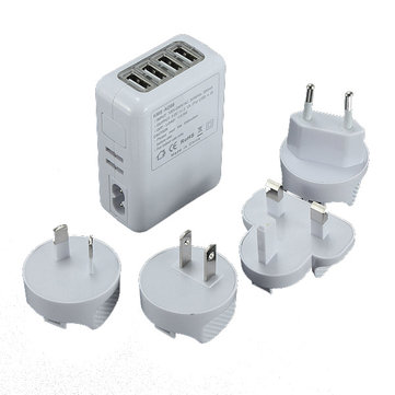 Travel 4 USB Port Wall Charger Adapter For Phone MP3 MP4 USB Device AU
